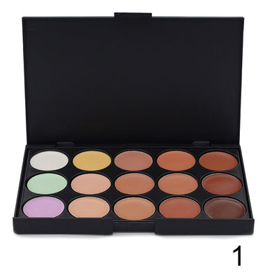 Ucanbe 15 Colors Concealer Foundation Palette - 1pcs