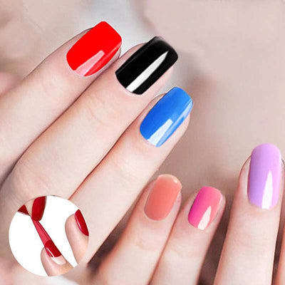Nail Art Manicure Tools - 36W UV Lamp + 6 Color Polish with Remover + File kit