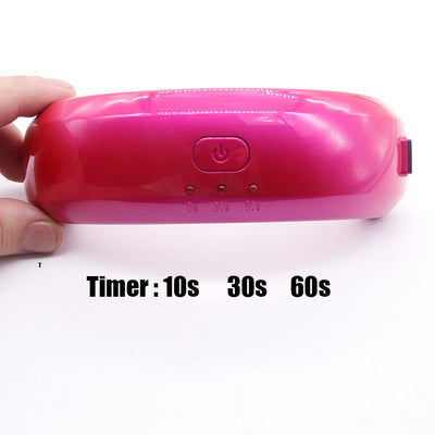 9W Mini LED UV Lamp For Curing Nail Gel Polish - 10s 30s 60s Timer Options