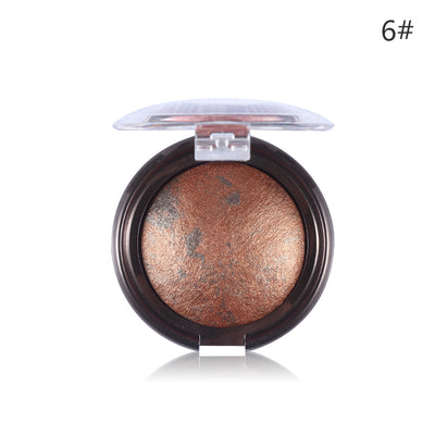 Party Queen Shimmer Highlight Powder Blush Makeup - 10 Colors
