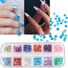 3000 Pcs - 12 Color 1.5mm Circle Bead Nail Art Rhinestones