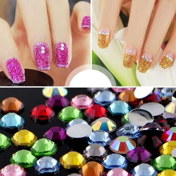 3000 Pcs - 12 Color 1.5mm Circle Bead Nail Art Rhinestones - Click ...