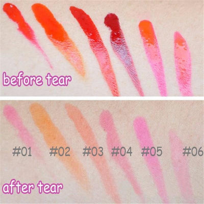 Romantic Bear WOW! Peel Off Lip Tint - Long Lasting And Waterproof  - 6 Colors