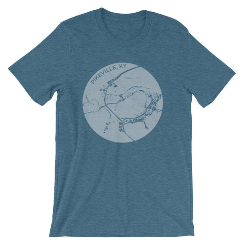 Pikeville Map Short Sleeve Tee