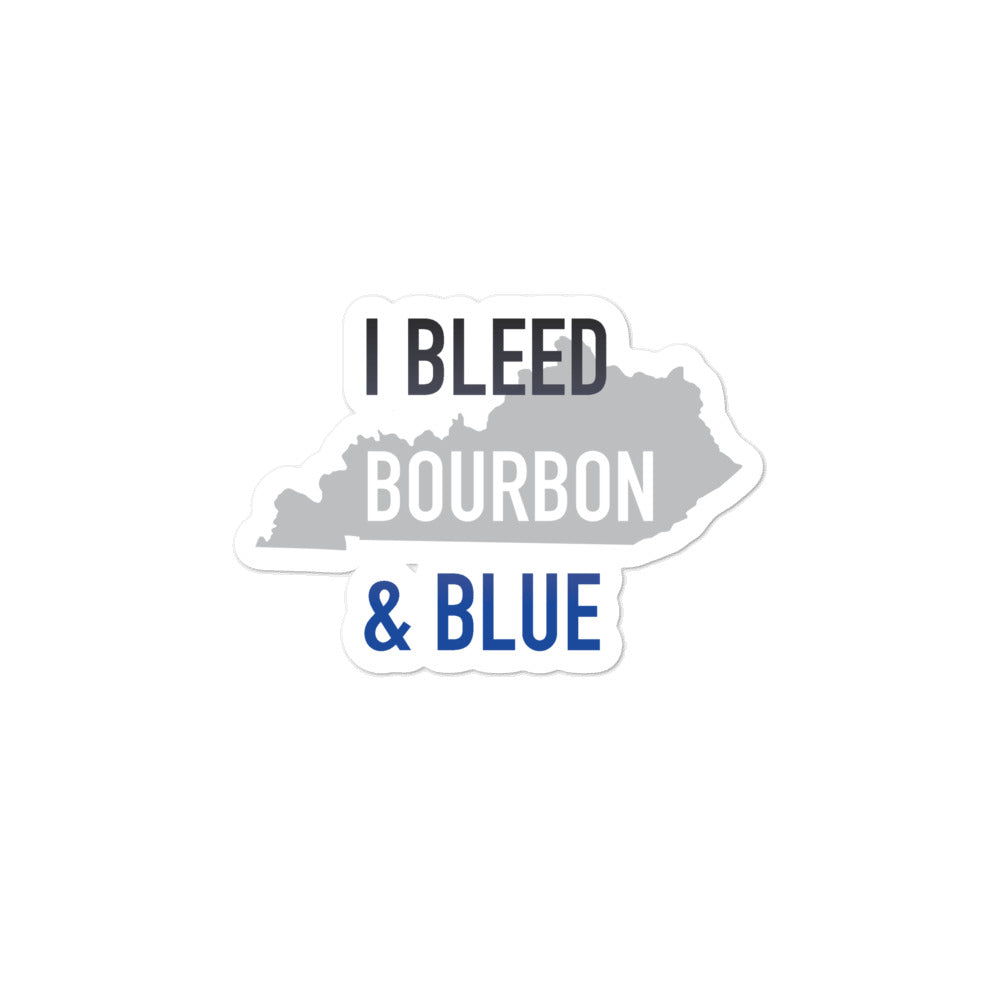 I Bleed Bourbon & Blue Sticker