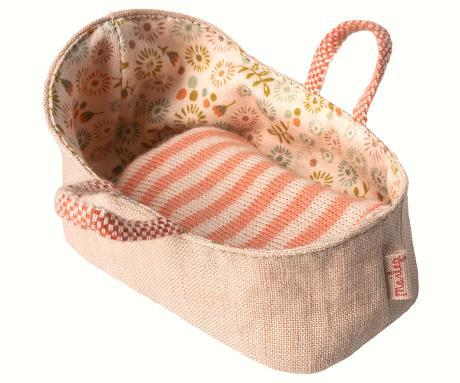 maileg carry baby cot in rose