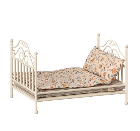 maileg vintage micro bed in soft sand