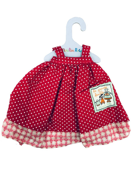 moulin roty la grande famille red polka dot dress
