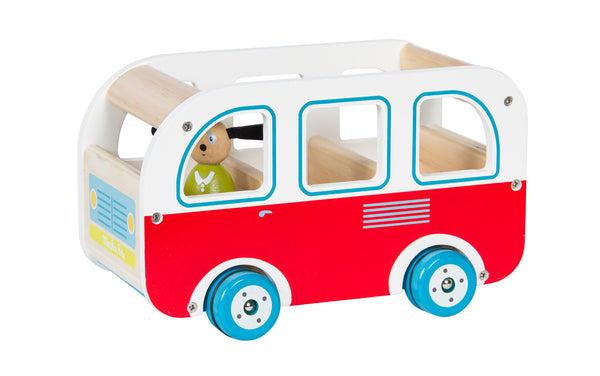 Moulin Roty La Grande Famille wooden bus - out of stock