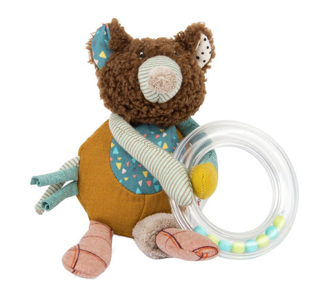 moulin roty les jolis trop beaux bear ring rattle