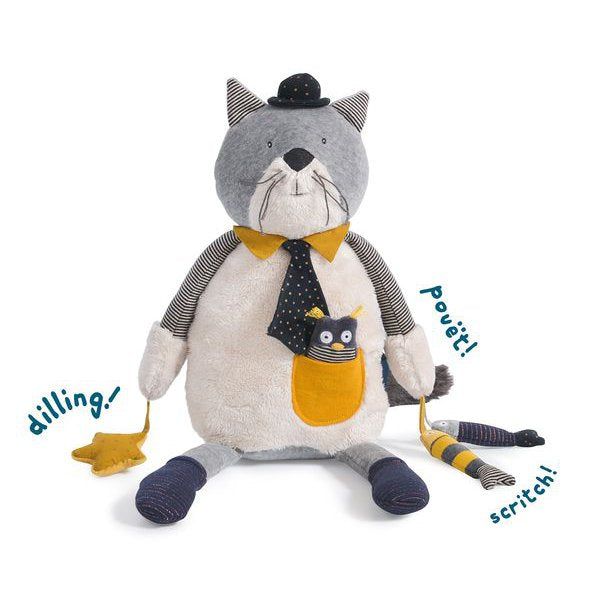 moulin roty les moustaches activity cat