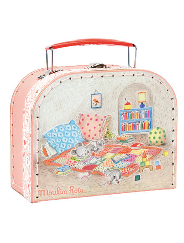 moulin roty la grande famille baby suitcase