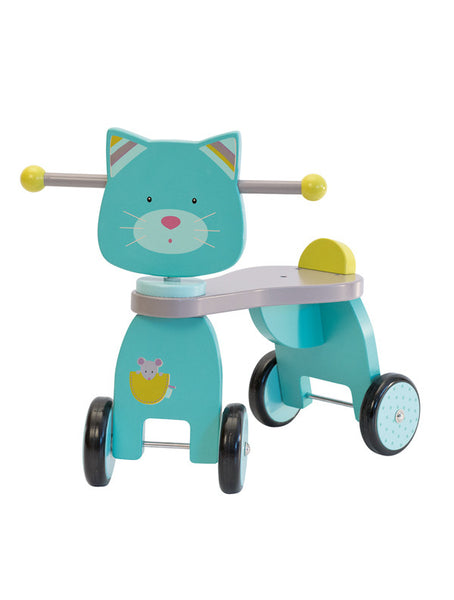 moulin roty les pachats wooden ride on cat - sold out
