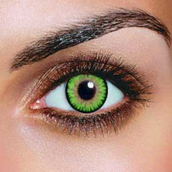 Triple Colour Green Contact Lenses (Pair)