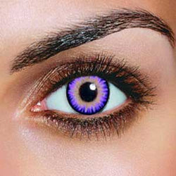 Triple Colour Violet Contact Lenses (Pair)