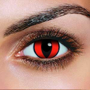Red Cat Contact Lenses (Pair)