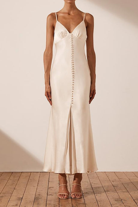 Shona Joy La Lune Cream Slip Dress