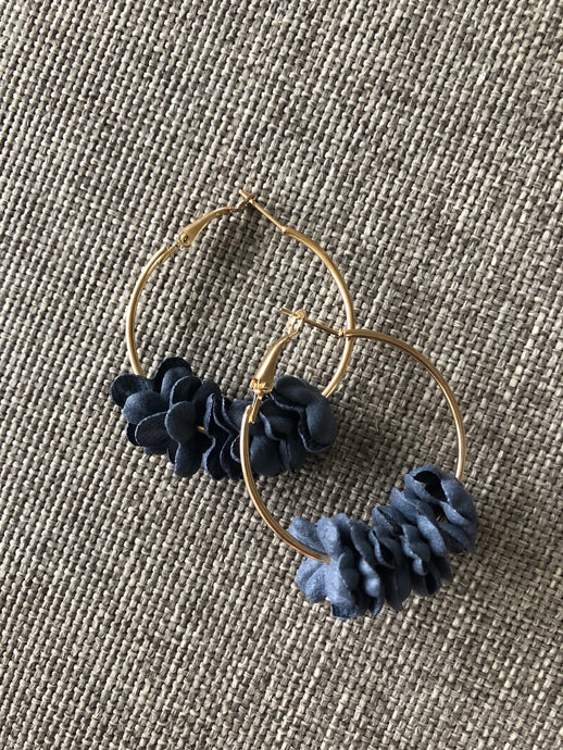 Florence Earrings - Navy