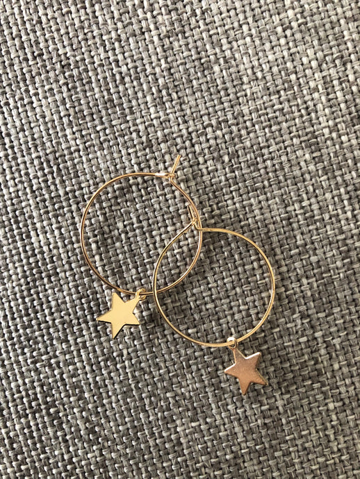 Sahara Gold Hoop Earrings