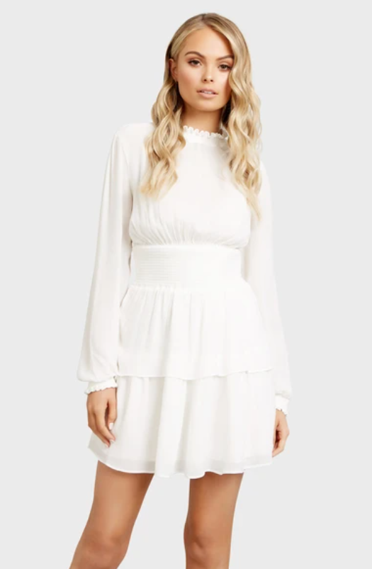 Kookai Lisa Shirred Dress