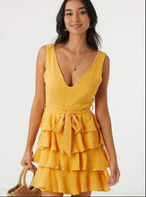 Boutique Tangerine Frill Dress