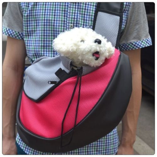 Pet Carrier Shoulder Sling With Breathable Mesh