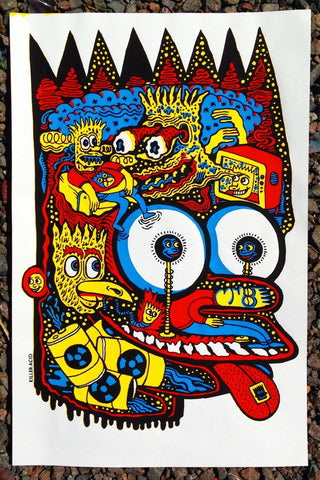 Head of Bart Print - Killer Acid x Viberaider