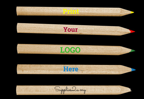 Custom personalised pencils printing supplier manufacturer malaysia supplies2u.my