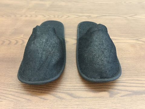 SLIPPERS -Towel Slippers (Black)