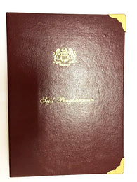 GUEST INFORMATION FOLDER - Hard Leather Cover with Velvet Inner Finish