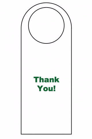SIGN - DOOR HANGERS (Thank you)
