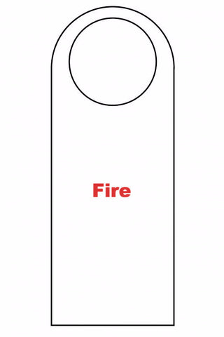 SIGN - DOOR HANGERS (Fire)