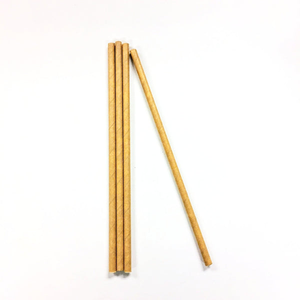 STRAWS - Biodegradable Kraft Paper Straws 7.5 Inch malaysia supplier