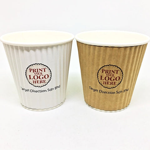 6oz Ripple Wall Hot Paper Cups Supplier Malaysia Supplies2u.my