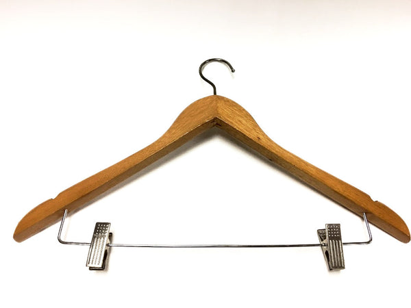 HANGERS - Wood (Female - With Clips)