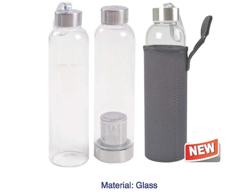 Borosilicafe Glass with Filter & Pouch