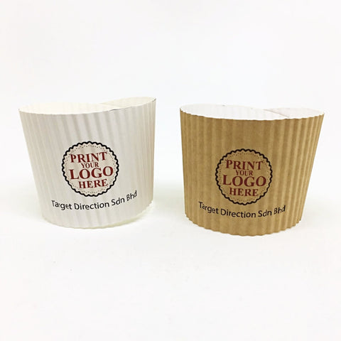 Rippled Paper Hot Cup Sleeve Supplier Malaysia Supplies2u.my