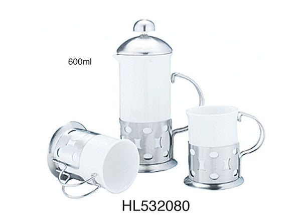 Ceramic Teapot Set (3 in 1 ) - 600 ml