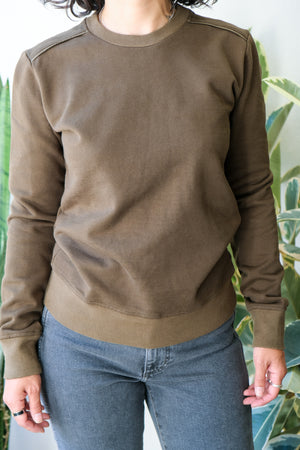 Linnton Sweatshirt in Dark Olive