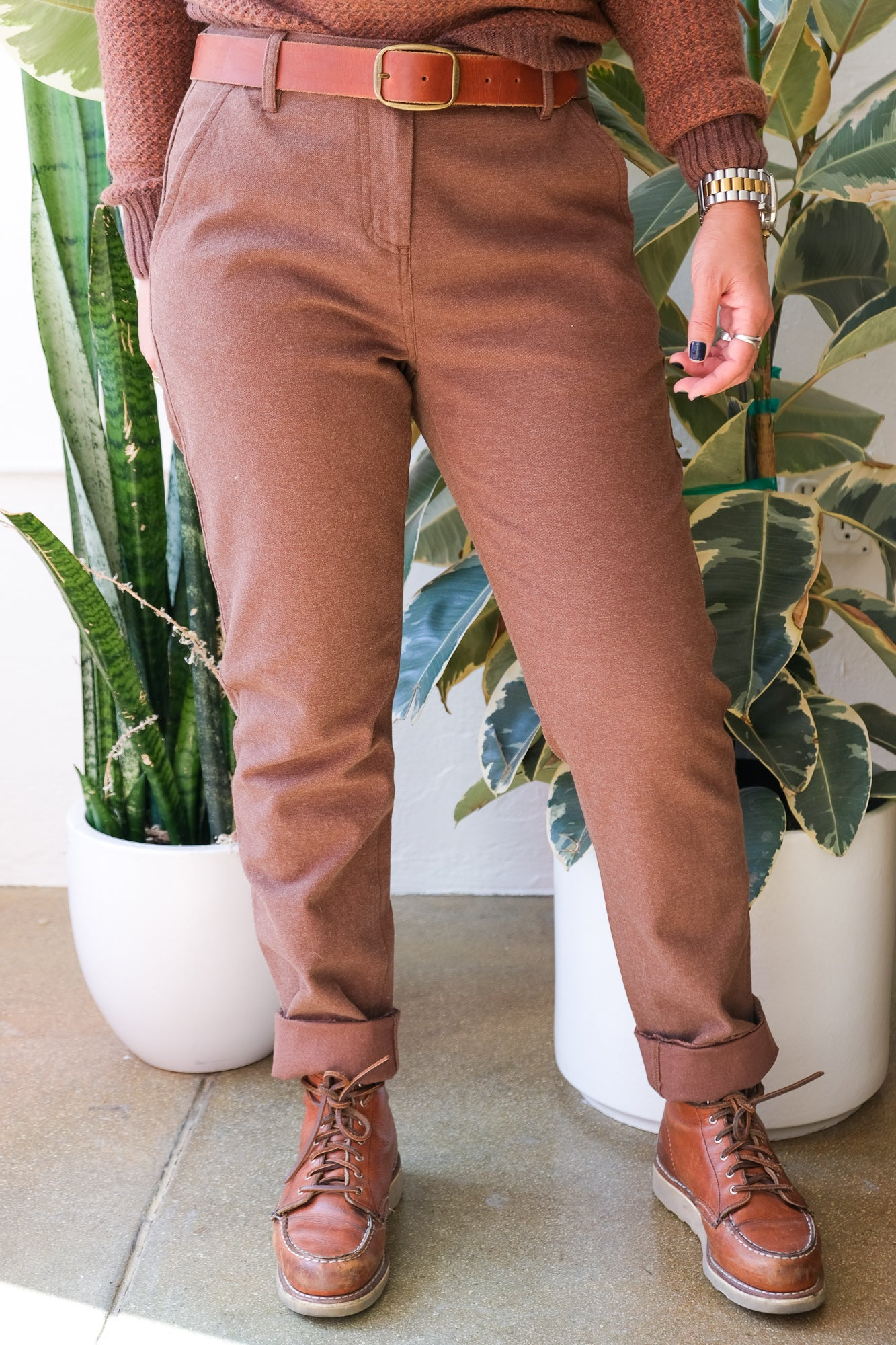 Market Pants in Bark