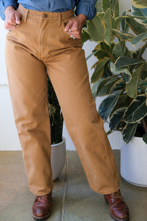 Relaxed Jeans in Wheat