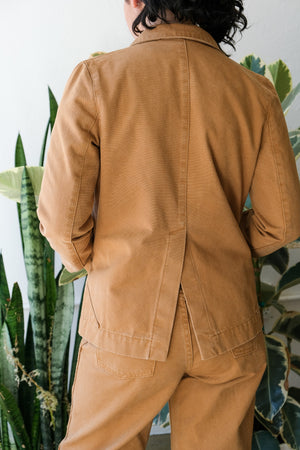 Triangle Pocket Jacket in Wheat