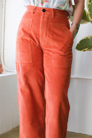 Sailor Fatigue in Tangerine Corduroy