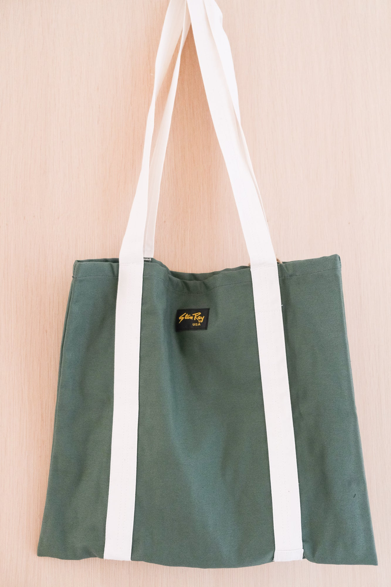 Tote Bag in Olive Sateen