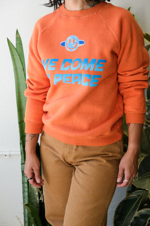 'We Come In Peace' Sweatshirt