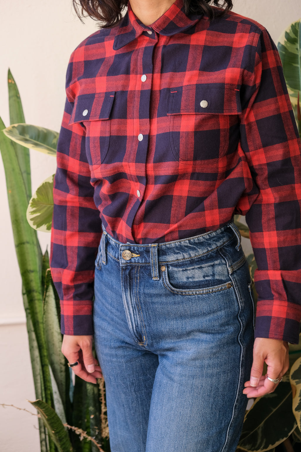 Crew Shirt in Plaid Flannel