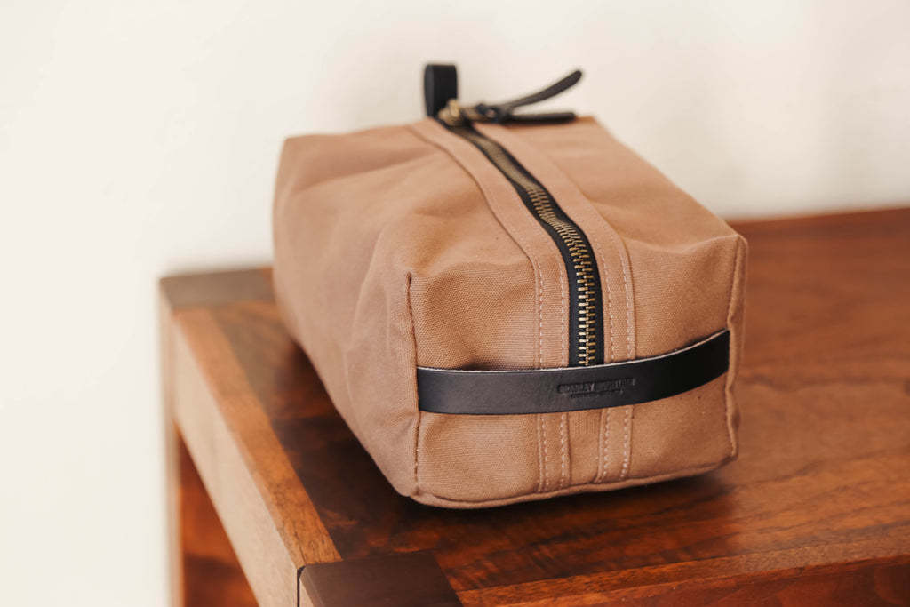 Bradley Mountain Dopp Kit in Tobacco + Black
