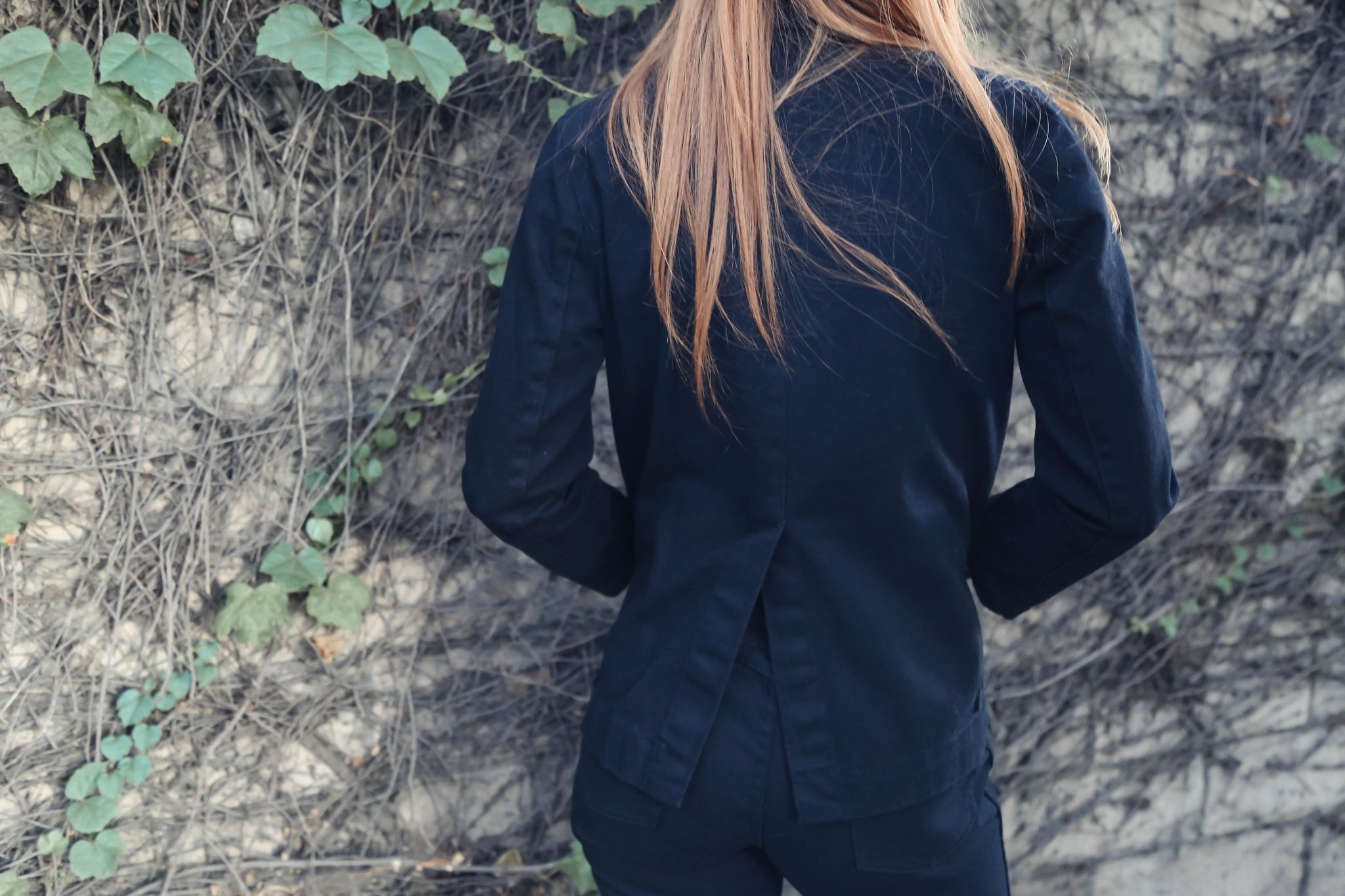 Carleen Triangle Pocket Jacket in Black