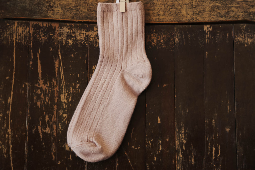 Collegien Crew Socks in Rose