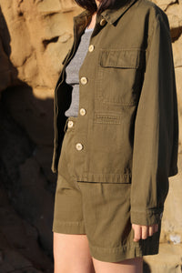 Worker Jacket in Khaki HBT